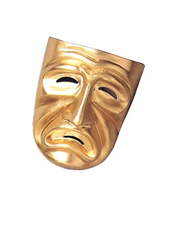 Tragedy Mask Gold - Halloween Mask