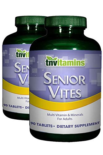 TNVitamins Senior Vites Multivitamins For 50+ Adults (2 x 90 Tablets)