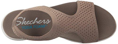 Sandalia Skechers Cali Mujer Microburst Plano, Taupe