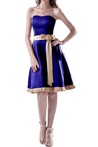 Missdressy - Robe - Sans bretelle - Femme -  bleu - 50