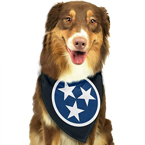 OURFASHION Tennessee Tri Star Flag Bandana Triangle Bibs Scarfs Accessories for Pet Cats and Puppies.Size is About 27.6x11.8 Inches (70x30cm). -