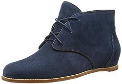 Rebecca Minkoff Women's Loran Chukka Boot,New Strom Blue Waxy Suede,9.5 M US