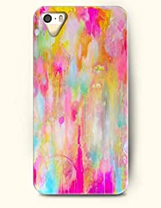 iPhone 5 5S Hard Case (iPhone 5C Excluded) **NEW** Case with Design Colorful Ink Painting- ECO-Friendly Packaging - Oil Painting Series (2014) Verizon, AT&T Sprint, T-mobile