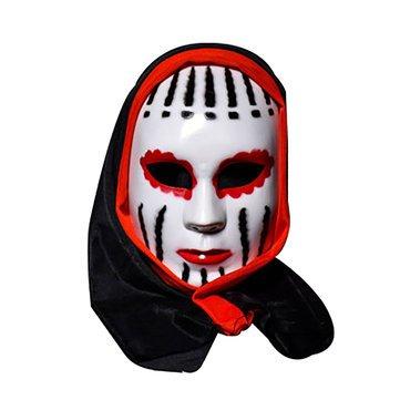 Scarey Cloak - Halloween Skull Skeleton Vampire Mask Bar Dance Horror Scary Soul Prop Demon Devil - Shuddery Block Alarming Masque Shivery Dissemble Chilling - 1PCs (Jester Skeleton)