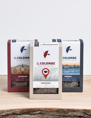 La Colombe Coffee Red, White + Brew Pack Whole Bean Louisiane Fishtown Corsica by La Colombe Coffee