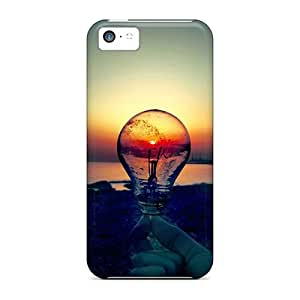AoqzTai8603oUCLM Snap On Case Cover Skin For Iphone 5c(lightbulb Sunset)