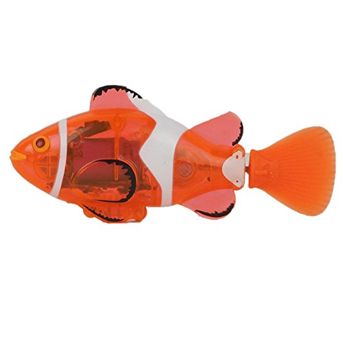 Innovative 3316 Mini Remote Control Fish Boat Electric RC Chargeable Boats Ship Swim Clown Fish Toy in Water for Kids Gift, Orange