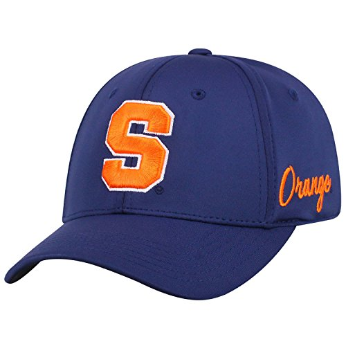 Top of the World Syracuse Orange Men's Fitted Hat Icon, Navy, One Fit - Navy Orange Fitted Hats