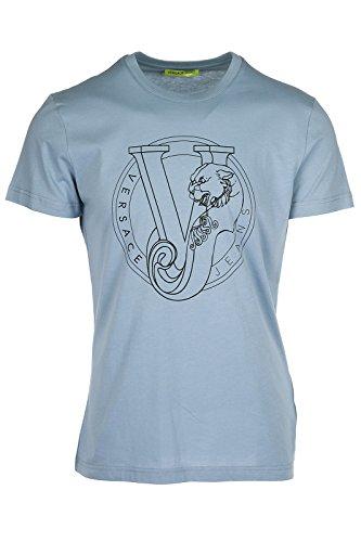 Versace B3GRB75K Jeans Jersey Pluto Slim Fit Sky Blue T-Shirt M Sky (Versace Jersey T-shirt)