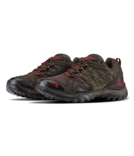 The North Face Hedgehog Fastpack GTX Hiking Shoe - Men's Coffee Brown/Rosewood Red 9