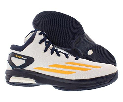 Adidas Asp Crazylight Aumentare Exum Dimensioni Basket Scarpe Da Uomo Bianco / Oro / Navy