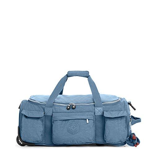 Kipling Women's Discover Solid Small Wheeled Duffle Bag, Blue Bird by Kipling