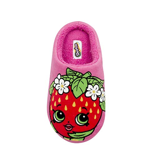 Little Kisses Baby Wash - Shopkins Girls Printed Clog Slipper with Plush Collar Strawberry Kiss 11/12 US Little Kid