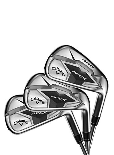 Callaway Golf 2019 Apex Irons Set (Set of 8 Total Clubs: 4-9 Iron, PW, SW, Right Hand, Graphite, Stiff Flex)