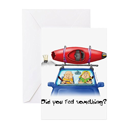 Price comparison product image CafePress - Kayak Capers Greeting Cards - Greeting Card, Note Card, Birthday Card, Blank Inside Glossy