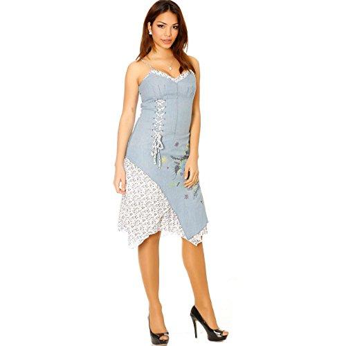 Miss Wear Line Damen Kleid blau blau