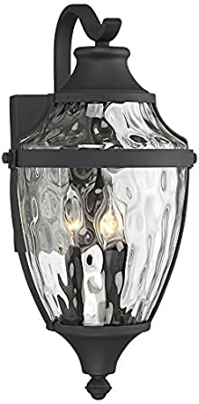 "Wilson 18"" High Textured Black Outdoor Wall Light"