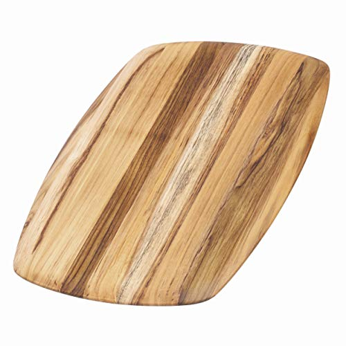 Teakhaus Wood Cutting Board - Teak Serving Platter With Rounded Edges (16 x 11 x .55 in.) - By (Best Type Of Wood For Cutting Board)