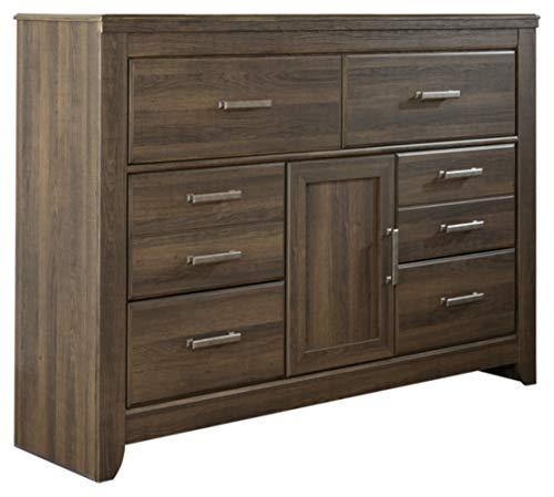 Ashley Furniture Signature Design - Juararo Dresser - 6 Drawers - Vintage Casual - Replicated Oak Grain - Dark Brown