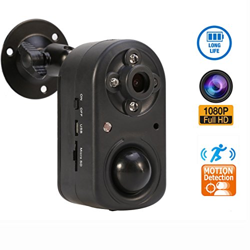 Pir Hidden Camera (Motion Detection Security Camera,eoqo 1080P PIR Security Camera with Night Vision,Battery Powered Hidden Camera Support 24 Months Standby Time)