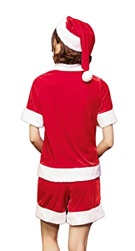 Mumentfienlis Womens Christmas Santa Costume Christmas Party Dress Shorts Costume