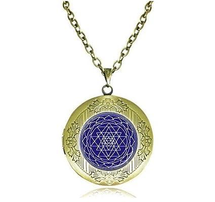 Amazon sri yantra locket necklace sacred geometry pendant sri yantra locket necklace sacred geometry pendant chakra jewelry buddhist reiki yoga meditation choker aloadofball Image collections