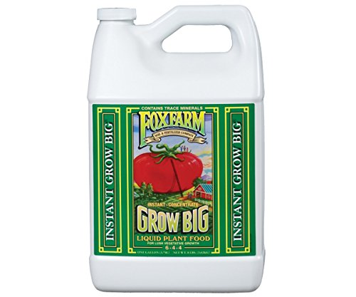 FoxFarm Grow Big Soil Liquid Concentrate Fertilizer, 1 - Organic Liquid Fertilizer