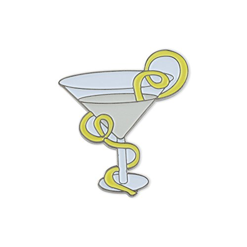 Martini Twist (Martini With A Lemon Twist Enamel Diestruck Lapel Pin– 1 Pin)