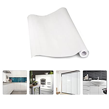 KINLO® Aufkleber Küchenschränke Weiß 2 Stk. 61x500cm aus ...
