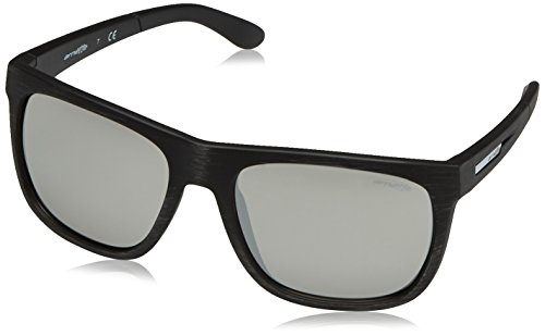 Arnette Men's Fire Drill Non-Polarized Iridium Square Sunglasses, Matte Silvery Black, 59 - Arnette Drill Fire