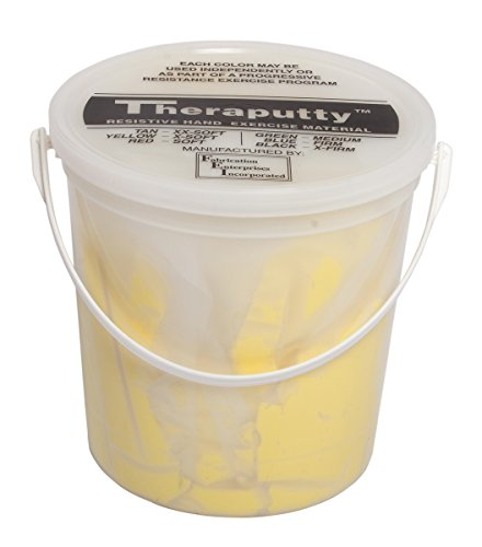 CanDo TheraPutty Plus Anti-microbial, Yellow: X-Soft, 5 lb by Theraputty