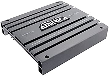 Bass Boost Control Pyramid PB3818 Crossover 5000W High Power 2-Channel Bridgeable Audio Sound Auto Small Speaker Amp Box w// MOSFET Silver Plated RCA Input Output 2 Channel Car Stereo Amplifier
