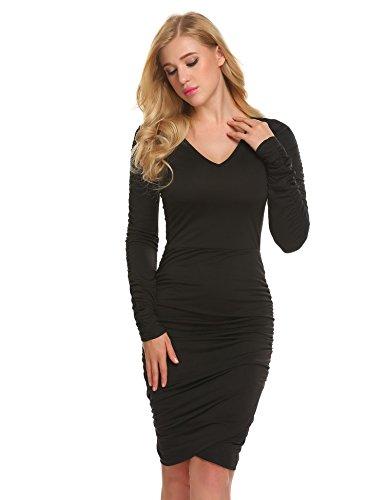 Gathered Jersey Dress - 4