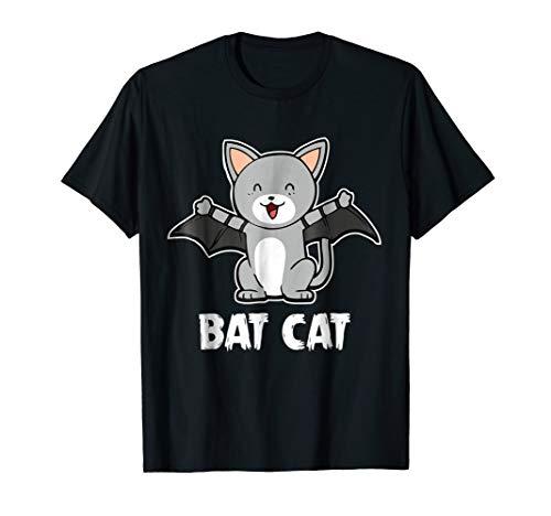 Bat Cat T-Shirt Kitten Halloween Costume Shirt for