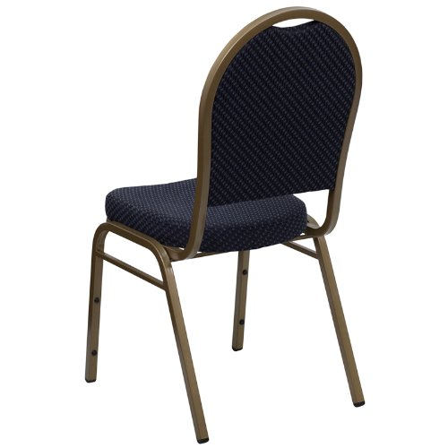 Gold Frame Flash Furniture HERCULES Series Dome Back Stacking Banquet Chair in Beige Patterned Fabric
