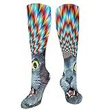 Posia Crazy Cat Hallucination Compression Socks for Men & Women - Best Stockings