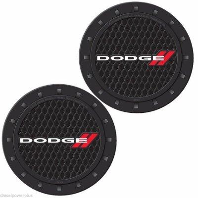 - Diesel Power Plus 2 Dodge Cup Holder Insert Coaster Set