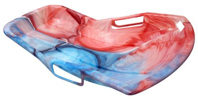 Emsco Group 1159 SnoSprint Racer Snow Sled, Day Glow Tie-Dye Pattern, 37-In. - Quantity 6 by Emsco