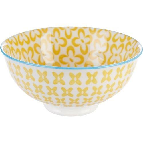Ooh La La Peony Bowl Yellow 440401 - Bleu Rim Soup