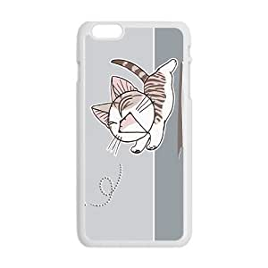 Cartoon Cute Cat Chasing Butterfly Phone Case for iPhone6 Plus