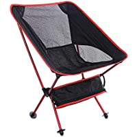 Folding Chair, Foldable Portable Outdoor Fishing Camping Backpacking Moon Chairs, Compact Ultralight