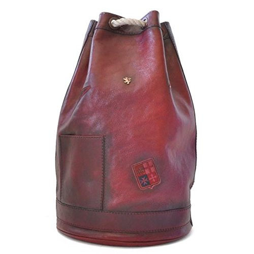 Pratesi Unisex Italian Leather Travel Bag Patagonia in Cow Leather in Chianti