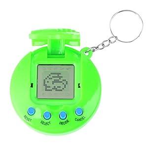Children Electronic Pet Game Machine, Retro Pocket Virtual Pet Toy Mini Digital Pet Hand-held Game for Kids(Green)