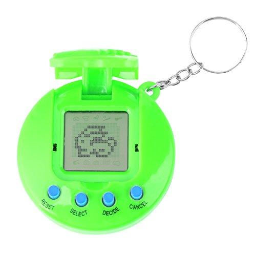Yosoo123 Virtual Pets Keychain Electronic Digital Pet Game Keyring Children Baby Electronic Toys Nostalgic Virtual Digital Pet Retro Handheld Game (Digital Toys)