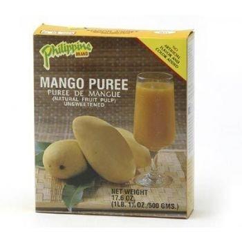 MANGO PUREE Mango Fruchtmark / Pulp - UNGESÜßT - 500g by Philippine