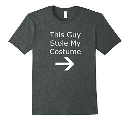 Mens This Guy Stole My Halloween Costume Last Minute Lazy Man Tee 3XL Dark Heather