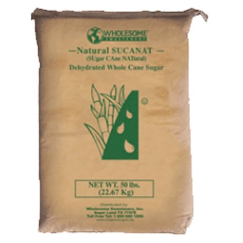 Wholesome Sweeteners Natural Sucanat, 50 pounds