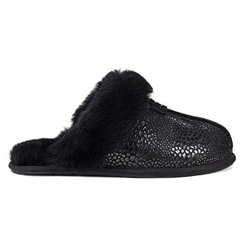 UGG Women's Scuffette Ii Glitzy Slip on Slipper, Black, 5 M US (Scuffette Ugg)
