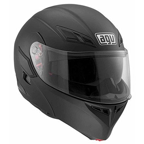 (AGV Numo Modular Motorcycle Helmet (Matte Black, Small))