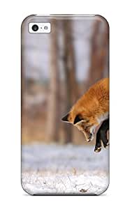 Iphone 5c Fox Print High Quality Tpu Gel Frame Case Cover by lolosakes